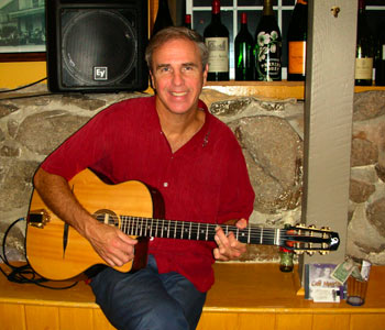Larry Urbon performs at Luc's